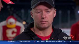 Live on location at the Saddledome: Calgary Flames head coach Glen Gulutzan